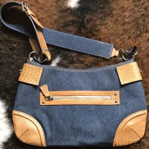 Denim & Leather Suarez Handbag